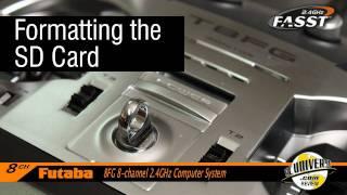 Futaba's 8FG transmitter- Programming the SD Card