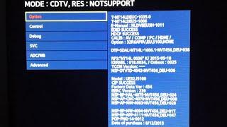 SAMSUNG TV Hidden Service Menu/Mode