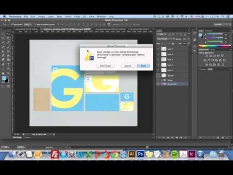 Creating Stationery Mockup
