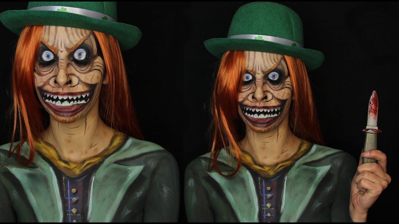 Creepy Scary Leprechaun Makeup Tutorial - YouTube