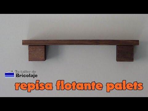 C mo hacer una repisa flotante con palets youtube - Tipos de tarimas flotantes ...
