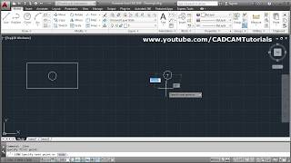 AutoCAD Draw Rectangle from Center