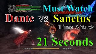 Devil May Cry 4 Dante Mission 20 Final Boss [Dante vs Sanctus Time Attack HD 1080p]New 2016 Youtube