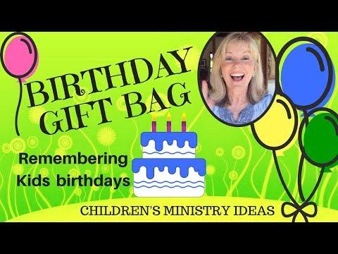 Birthday Bag:  Helping children feel special on their Birthday  CREATIVE CHILDREN'S MINISTRY IDEAS