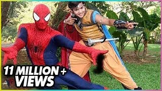 Repeat youtube video Spiderman Visits The Set Of Baal Veer - ON LOCATION