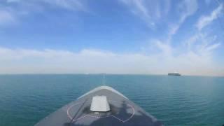 HNoMS Fridtjof Nansen sailing through the Suez Canal