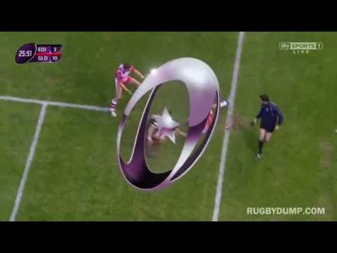 Cornell du Preez tap-tackle after Jonny May's scorching run