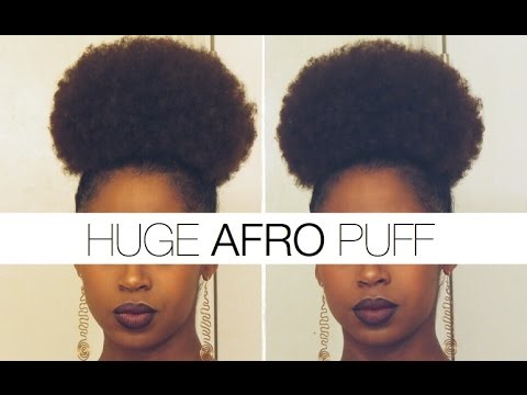 Easy Huge Afro Puff Tutorial Youtube