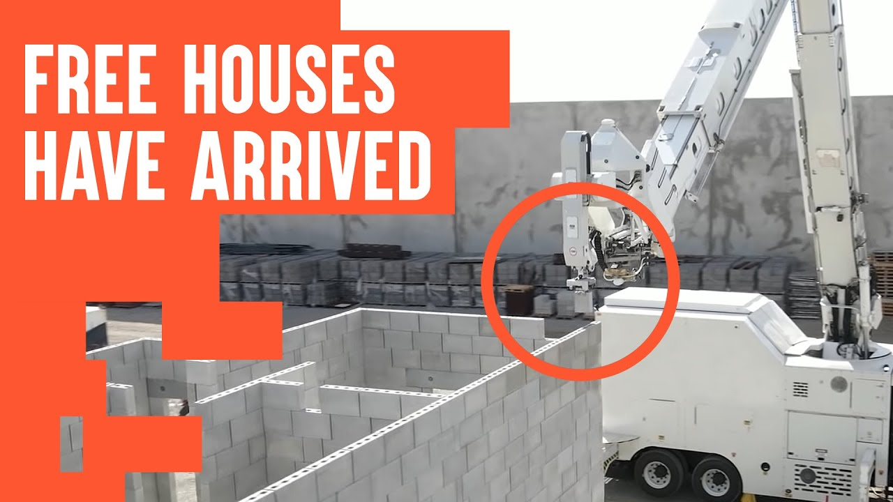 Watch robots build houses at incredible speed. 3D printing meets AI.