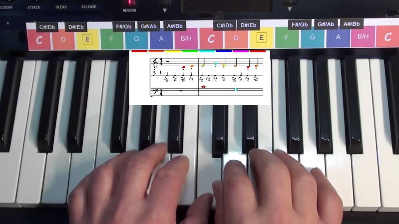 klavier lernen mit farben ostwind youtube. Black Bedroom Furniture Sets. Home Design Ideas