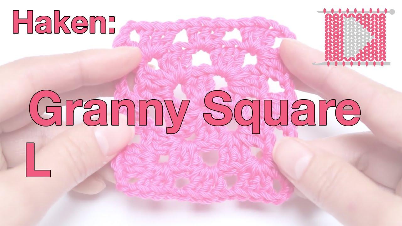 Granny Square Linkshandig Leren Haken En Breien Youtube
