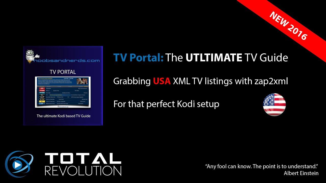 TVP - Grab USA XMLTV Listings (zap2xml)