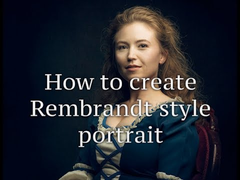 How to Retouching in Photoshop to create Rembrandt look on portrait thumbnail
