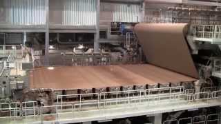 Jamestown Container's Greenpac Linerboard Mill -Fourdriner running paper