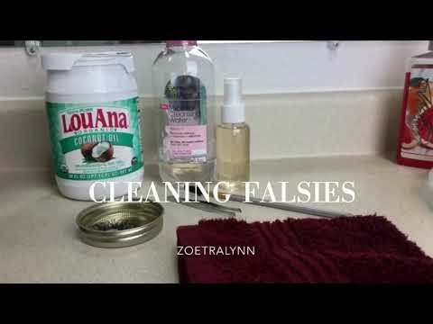 Super Easy, AFFORDABLE Way to Clean False Lashes!