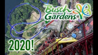 NEW Intamin Multi Launch Coaster Details for Busch Gardens Williamsburg in 2020