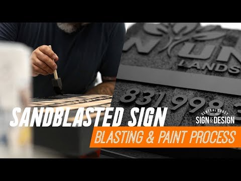Santblasted Sign Process | CCSD Highlights