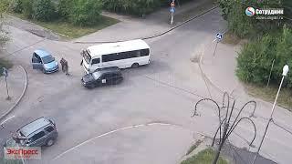 ДТП Бийск на перекрестке ул. Ленинградская - Разина 19.08.2019