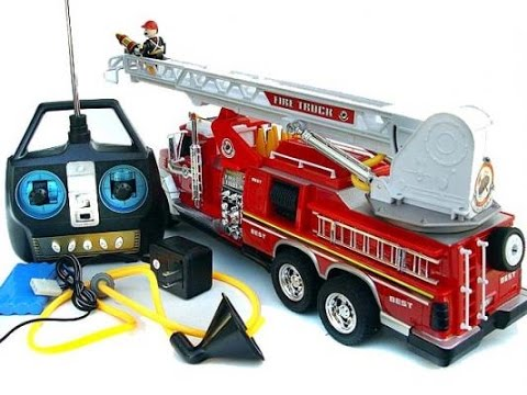 camion de pompiers t l command jouet youtube. Black Bedroom Furniture Sets. Home Design Ideas