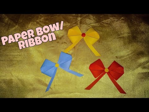 how to make a paper bow/ribbon tutorial