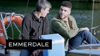 Emmerdale - Nate Brags About Sleeping with Moira to Cain's Face