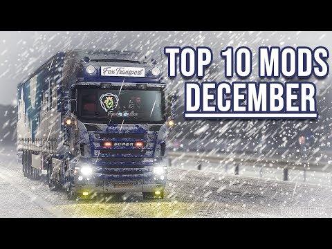 TOP 10 ETS2 MODS - DECEMBER | Euro Truck Simulator 2 mods