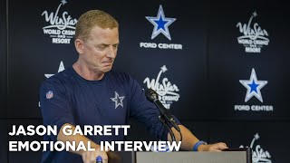 Jason Garrett emotional after learning Babe Laufenberg's son died