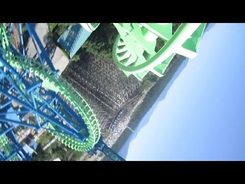 Aftershock Front Seat on-ride HD POV Silverwood Theme Park
