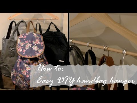 How To Easy Diy Handbag Hanger Youtube