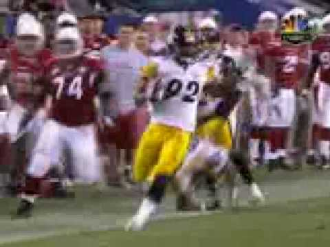 Super Bowl XLII: James Harrison 100 yards Touchdown