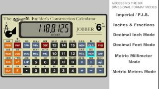 Jobber 6 Construction Calculator - Working with all dimensional formats