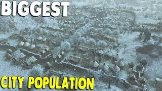 Building the BIGGEST CITY YET & New Farms & Castle Expasnion | Dawn of Man Gameplay