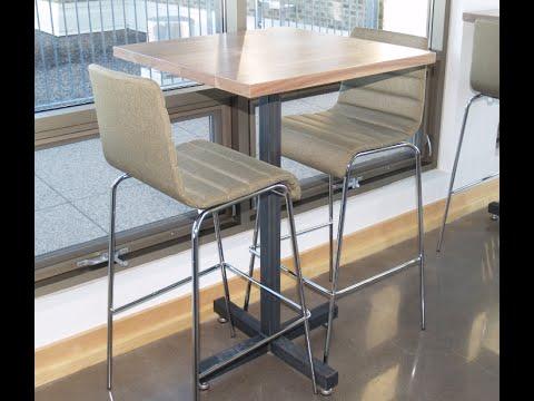 Welding Bar Height Restaurant Pedestal Table Bases - Minneapolis MN