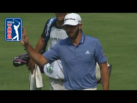 Dustin Johnson spins in eagle from 112-yards at Mexico Championship