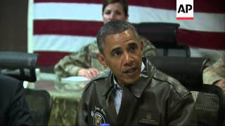US president meets military commanders during surprise visit