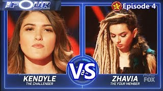 Zhavia vs Kendyle Paige  - SHOCKING Results  &Comments The Four S01E04 Ep 4