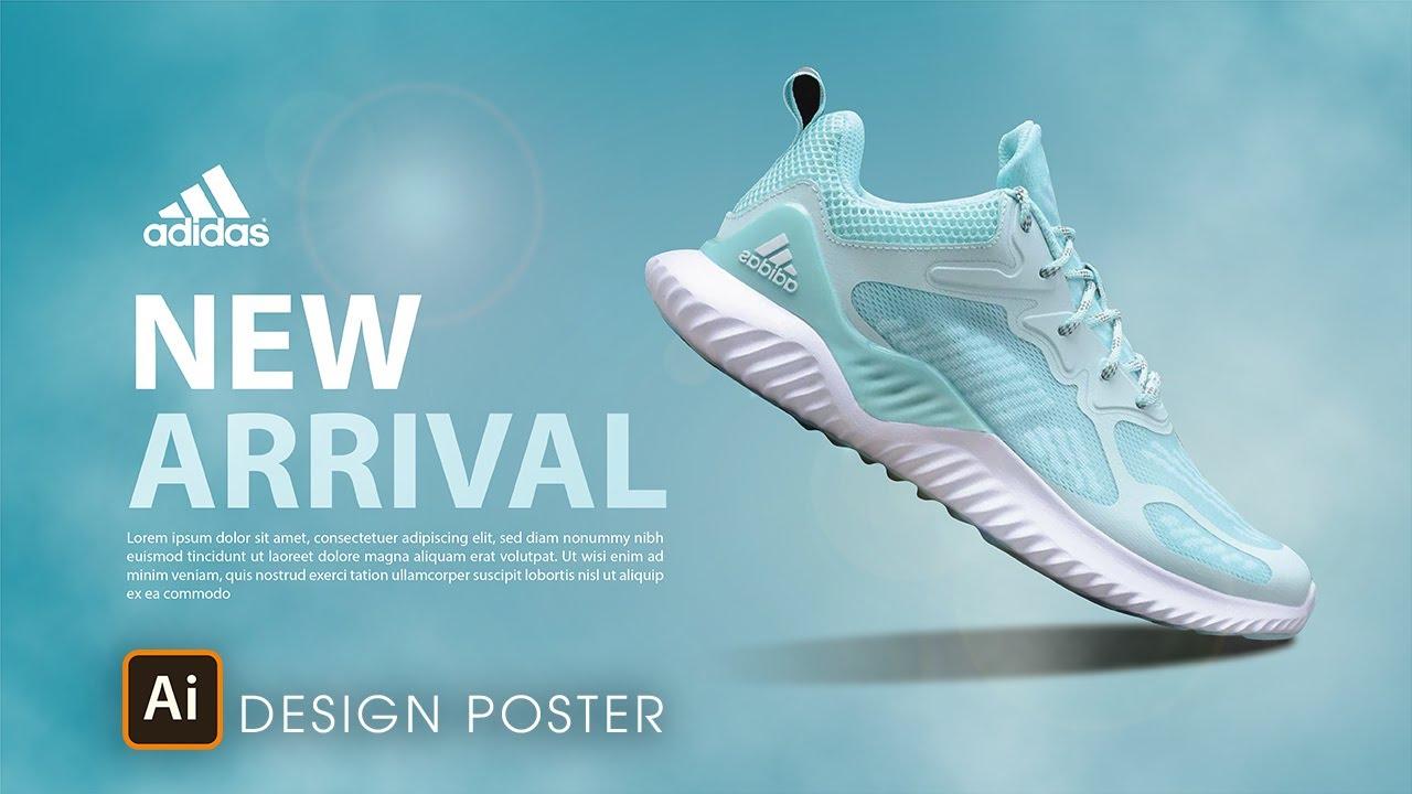 THIẾT KẾ POSTER VỀ GIÀY THỂ THAO BẰNG ILLUSTRATOR | Tổng quát các tài liệu liên quan poster thời trang chính xác