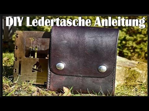 Ledertasche  Selber Machen | Anleitung | Ledertasche Für Bushbox Herstellen  | Leder Nähen | DIY