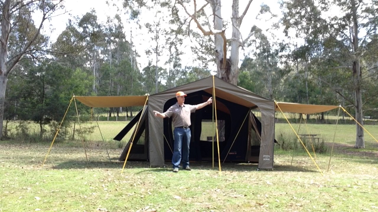 How to benefit from the simple addition of Diamantina Canvas Awning Extensions to your canvas tent & How to benefit from the simple addition of Diamantina Canvas ...