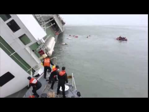 Raw  South Korean Ferry Captain Rescue Video