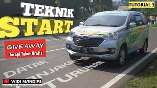 Tutorial 3 | 3 Teknik Start di jalan Datar, Tanjakan, Turunan by kursus mengemudi mobil Widi Mandiri
