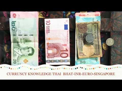 International Currency Thai Bhat Euro Singapore Dollar INR