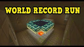 Minecraft Xbox 1.2 WORLD RECORD SPEED RUN Attempt