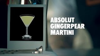 Absolut Gingerpear Martini Drink Recipe - How To Mix