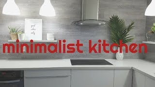 MINIMALIST KITCHEN RENOVATION REVEAL- KITCHEN TOUR-KITCHEN REMODEL-DIY KITCHEN