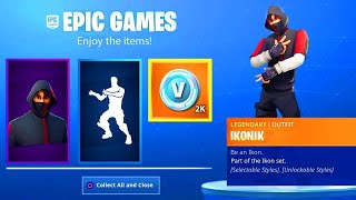 CONCOURS: WINNER NOW TON SKIN IKONIK RAPIDEMENT AND FREE ON FORTNITE: BATTLE ROYALE