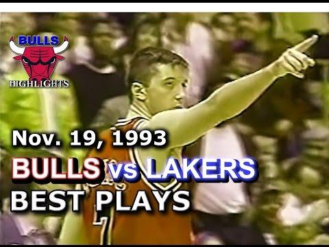 November 19 1993 Bulls vs Lakers highlights