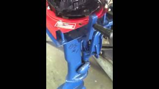 Air cooled outboard engine. Briggs & Stratton outboard engine. Homemade outboard kicker.
