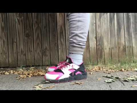 Nike huarache clean using crep cure/result on feet