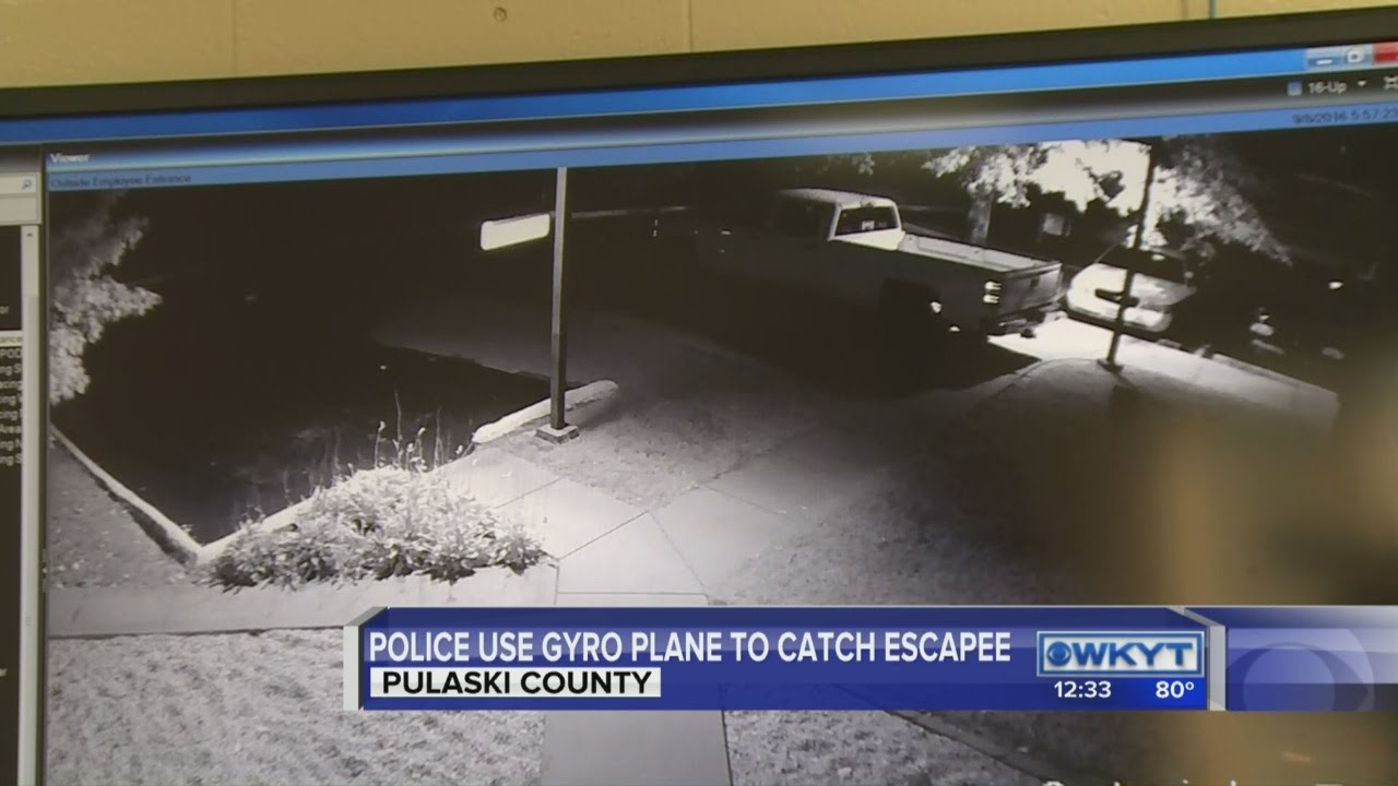 Download Police use gyro plane to catch escapee